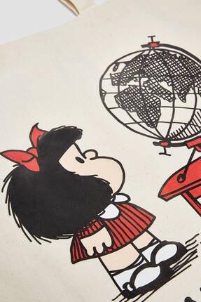 Pull & Bear Mafalda Görselli Tote Çanta 3