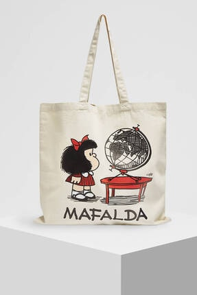 Pull & Bear Mafalda Görselli Tote Çanta 4