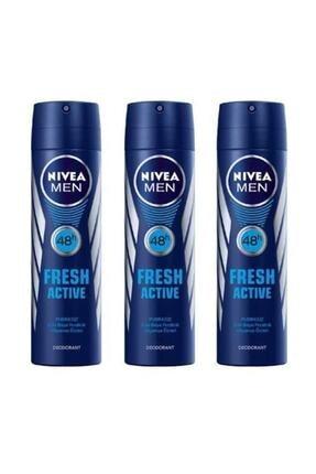 Nivea Men Deodorant Fresh Active 3 X 150 Ml 0