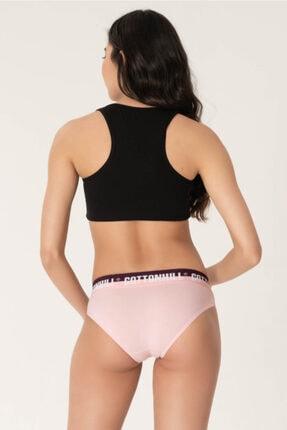 Cottonhill Kadın Renkli Basic Kalın Lastikli Pamuklu Bikini Külot 3'lü Paket 3 3