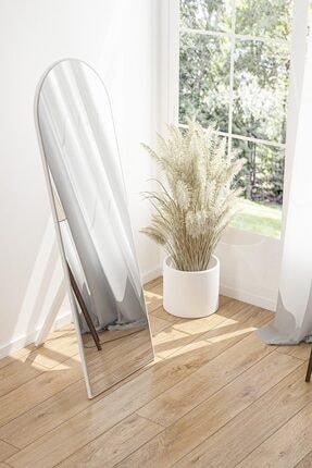 bluecape Nice 120x40 Cm Beyaz Ayaklı Antre Koridor Duvar Salon Banyo Wc Ofis Çocuk Yatak Odası Boy Ayna 1