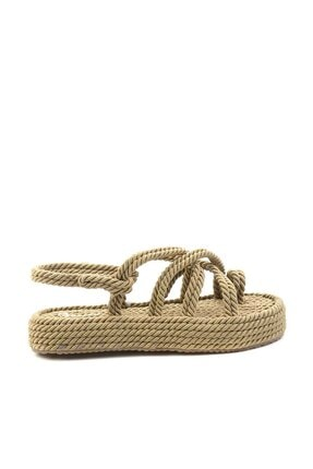Bambi Altın Kadın Sandalet K05823011176 1