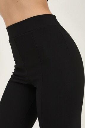 Quzu Kadın Siyah Paçası Yırtmaçlı Pantolon 4