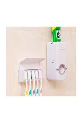 Zzn Otomatik Macun Sıkacağı Diş Fırçalık Tutucu Askı Diş Macunluk Set 2