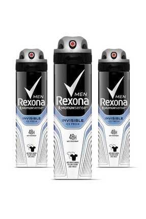 Rexona Erkek Deodorant Sprey Invisible Ice Fresh 150 ml X 3 Adet 0
