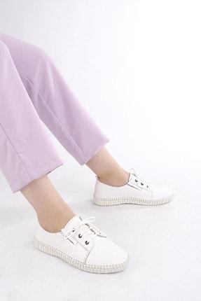 Marjin Kadın Hakiki Deri Comfort Ayakkabı Resabeyaz 1