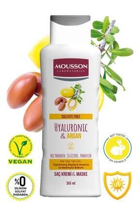 Mousson Hyaluronik Asit & Argan Içeren Onarıcı Ve Besleyici Saç Bakım Krem Ve Maskesi 365 ml 1