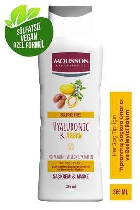 Mousson Hyaluronik Asit & Argan Içeren Onarıcı Ve Besleyici Saç Bakım Krem Ve Maskesi 365 ml 2