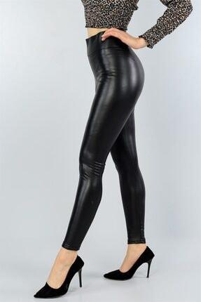 Md1 Collection Kadın Siyah Suni Deri Pantolon Siyah Suni Deri Tayt 2