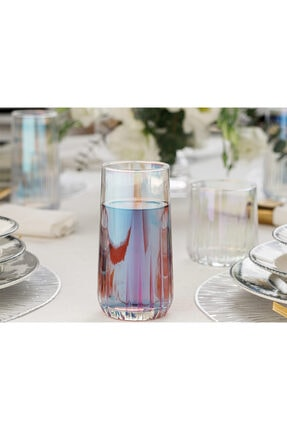 English Home Rio Cam 4'lü Meşrubat Bardağı 360 Ml Renkli 0