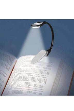 Wonderlust Kitap Okuma Işığı Klipsli Siyah 3 Led Lamba Beyaz Işık 1