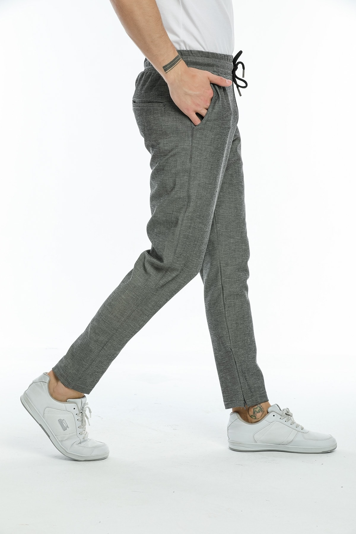 Paça Fermuarlı Jogger Fit Pantolon