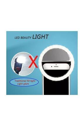 Sentor Şarjlı Led Selfie Işığı Led Ring Light Halka Telefon Işığı 36 Led 3 Kademeli 4
