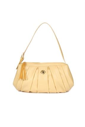 US Polo Assn Sarı Kadın Omuz Çantası Us8395 1