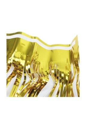 PartiPan Püsküllü Metalize Masa Eteği Gold 3