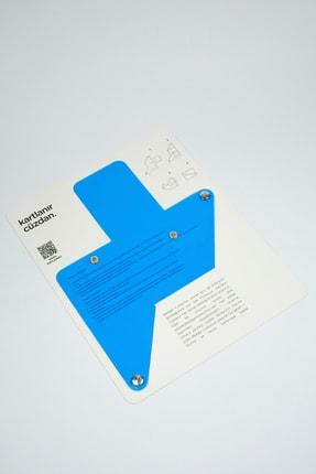Badger Collection Katlanır Cüzdan - Unisex Kartlanır Mavi 3
