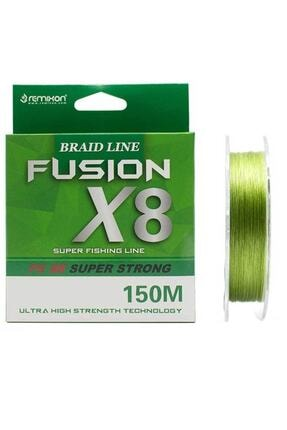 Remixon Fusion x8 Green İp Olta Misinası 150mt 0,10 mm 0