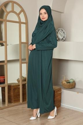 medipek Kolay Giyilebilen Tek Parça Namaz Elbisesi Zümrüt Yeşili 0