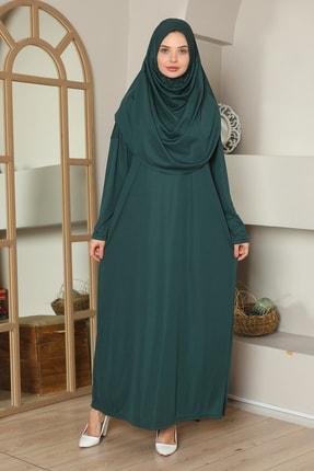 medipek Kolay Giyilebilen Tek Parça Namaz Elbisesi Zümrüt Yeşili 2