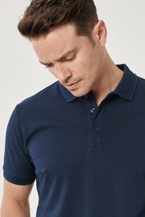 Altınyıldız Classics Erkek LACI-LACI Düğmeli Polo Yaka Cepsiz Slim Fit Dar Kesim Düz Tişört 1