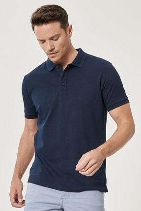 Altınyıldız Classics Erkek LACI-LACI Düğmeli Polo Yaka Cepsiz Slim Fit Dar Kesim Düz Tişört 2