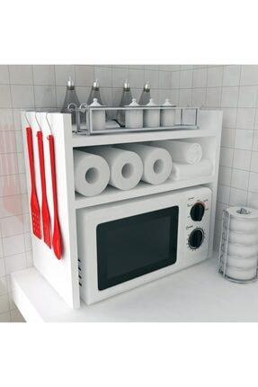 Bayz Tasarım Mutfak Tezgah Üstü Mikrodalga Fırın Raf Dolap Düzenleyici Organizatör Toplayıcı 0