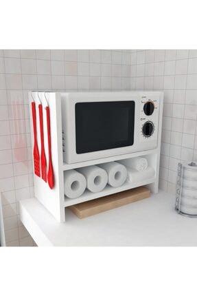 Bayz Tasarım Mutfak Tezgah Üstü Mikrodalga Fırın Raf Dolap Düzenleyici Organizatör Toplayıcı 2
