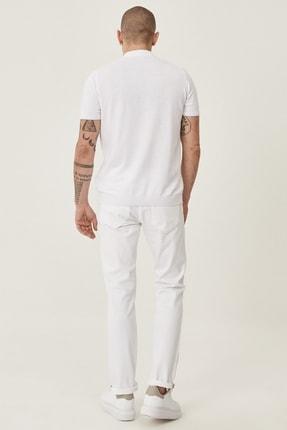 Altınyıldız Classics Erkek Beyaz 360 Derece Her Yöne Esneyen Rahat Slim Fit Pantolon 3