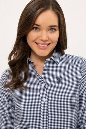 US Polo Assn Lacıvert Kadın Gömlek G082SZ004.000.1268458 1