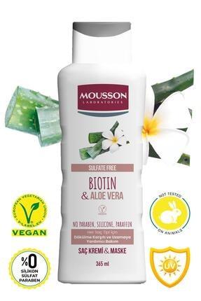 Mousson Biotin ve Aloe Vera İçeren Dökülme Karşıtı ve Uzamaya Yardımcı Saç Bakım Krem ve Maskesi 365 ml 1