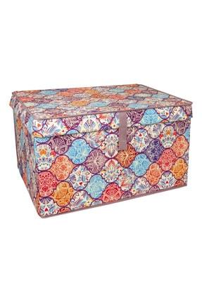 Lumier 3 Adet Maxi Kapaklı Kutu Hurç Eşya Yastık Kıyafet Saklama Kutu Seti 50x40x30 Cm 4