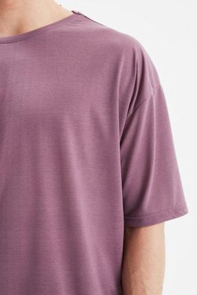 TRENDYOL MAN Açık Mor Basic Erkek Bisiklet Yaka Oversize Kısa Kollu T-Shirt TMNSS21TS0811 2