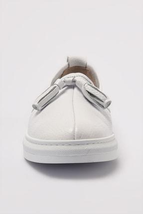 Elle Hakiki Deri Thayne Beyaz Kadın  Sneaker 20YEYB-24 2