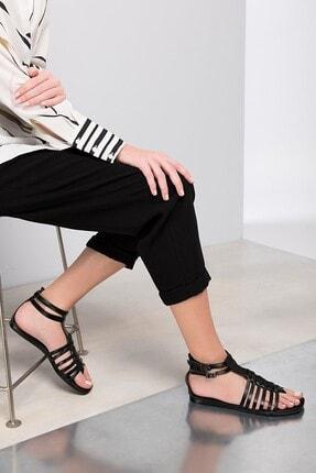 İnci Hakiki Deri Siyah Kadın Sandalet 120130000047 0