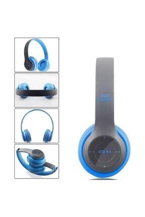 Polygold P47POL Bluetooth Kulaklık Mp3 Fm Solo 2 Beats Model Kulaküstü Mavi 0