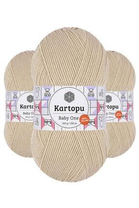 Kartopu Baby One K855 (bej) Anti-pilling El Örgü Ipi/yünü 1 Adet 0