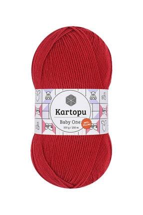 Kartopu Baby One K125 (Bayrak Kırmızı) Anti-pilling El Örgü Ipi/yünü 1 Adet 1