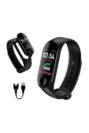 İnter M3 Bluetooth Akıllı Bileklik Saat Dijital Ekran Universal Siyah 0