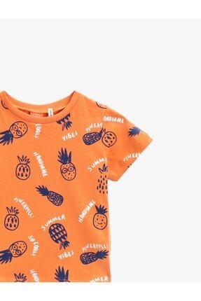 Koton Erkek Bebek Turuncu  T-Shirt 2