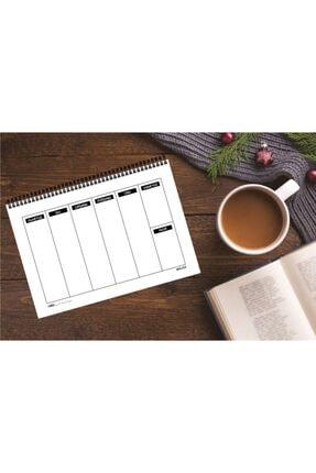 AKILLICA Haftalık Planlayıcı 13,5 X 19,5 Cm Weekly Planner Black Defter 1