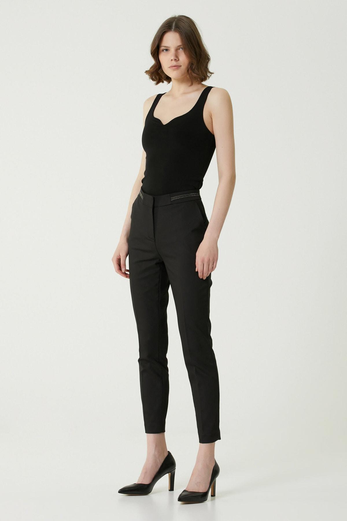 Kadın Basic Fit Siyah Pantolon 1079587