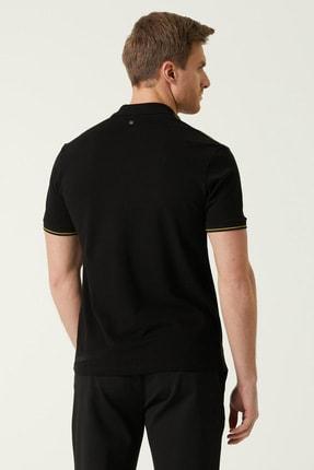 Network Erkek Slim Fit Siyah Polo Yaka T-shirt 1078379 2