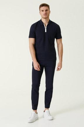 Network Erkek Slim Fit Lacivert Polo Yaka T-shirt 1078321 1
