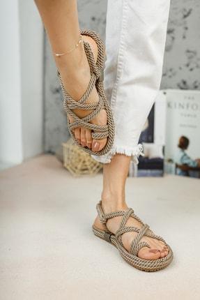 meyra'nın ayakkabıları Kadın Halat Sandelet Vizon 3