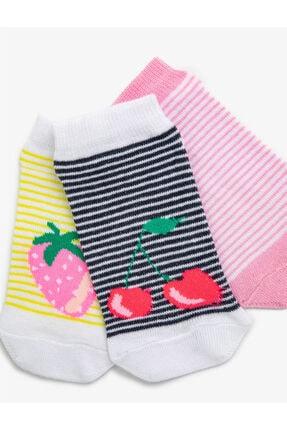 Koton Kiz Çocuk Meyveli Çorap Seti Pamuklu 1
