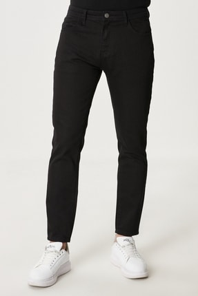Altınyıldız Classics Erkek Siyah Slim Fit Dar Kesim Denim Jean Kot Pantolon 0