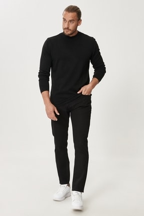 Altınyıldız Classics Erkek Siyah Slim Fit Dar Kesim Denim Jean Kot Pantolon 1