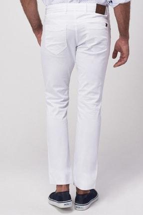 Altınyıldız Classics Erkek Beyaz Slim Fit Armürlü Pantolon 3