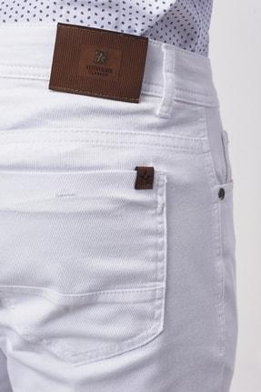 Altınyıldız Classics Erkek Beyaz Slim Fit Armürlü Pantolon 4