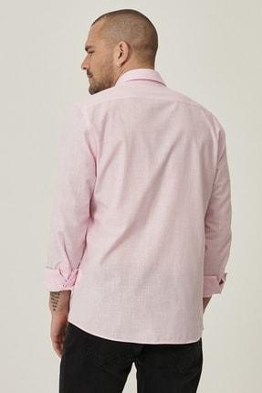 Altınyıldız Classics Erkek Pembe Tailored Slim Fit Dar Kesim Düğmeli Yaka %100 Koton Gömlek 4